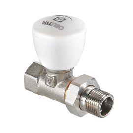Valtec VT.008.N Кран радіаторний регулювальний (прямий), Вид підключення: Прямий, Тип клапана: Ручной клапан, Розмір: 1/2