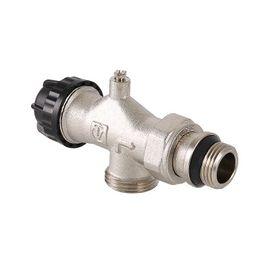 Valtec VT.049 Клапан термостатический угловой с осевым управлением, предварительной настройкой и воздухоотводчиком