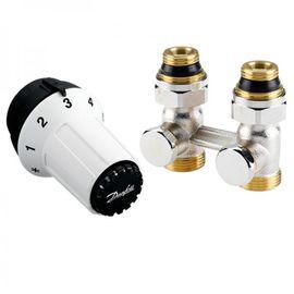 Комплект для радиатора с нижним подключением Danfoss 013G5275 (M30x1.5, прямой), Вид подключения: Прямой, Резьба: M30x1.5
