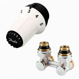 Комплект для радиатора с нижним подключением Danfoss 013G5278 (click, угловой), Вид подключения: Угловой, Резьба: Click (Danfoss)
