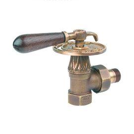 Дизайнерские клапаны Carlo Poletti  с ручкой для чугунных радиаторов, угловой, оригинал