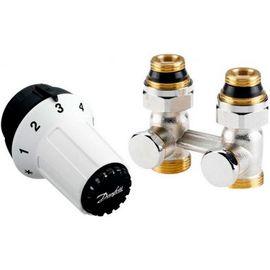 Комплект для радиатора с нижним подключением Danfoss 013G5277 (Click Danfoss, прямой), Вид подключения: Прямой, Резьба: Click (Danfoss)