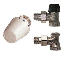 Комплект радиаторный с термоголовкой Honeywell VTL320EA15 (Угловой), Вид подключения: Угловой, Резьба: M30x1.5, Модификация: С Термоголовкой