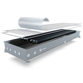 U-con EK2 | Внутрішньопідлоговий конвектор (природна конвекція), Модель: EK2, Ширина: 360, Довжина: 1000, Глибина: 67